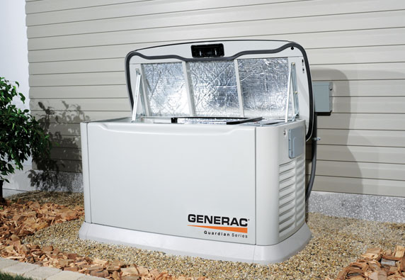 Generac whole house generator being installed
