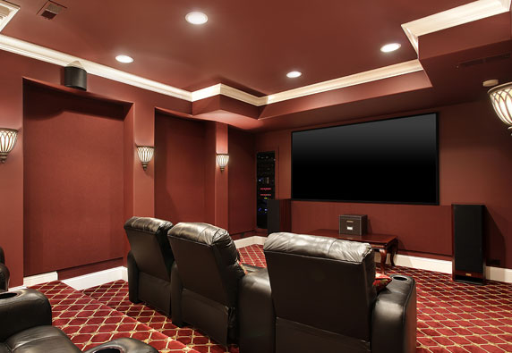 Home Theater from the right
