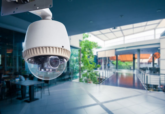 Indoor commercial security camera