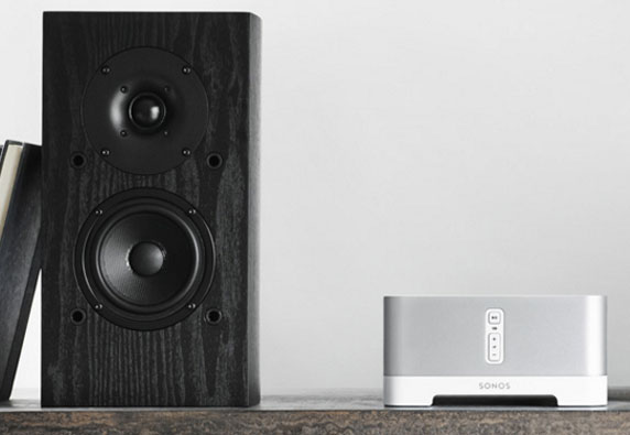 Sonos Audio components are wireless and smaller than traditional sound systems